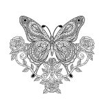 Free coloring pages of Butterflies