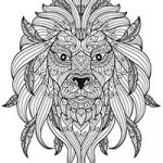 Free coloring pages of Lions